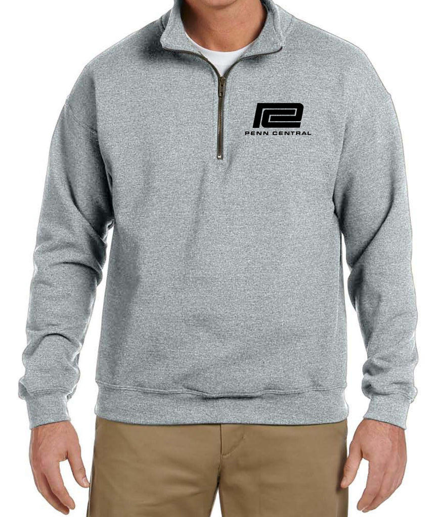 Penn Central Logo Embroidered Cadet Collar Sweatshirt