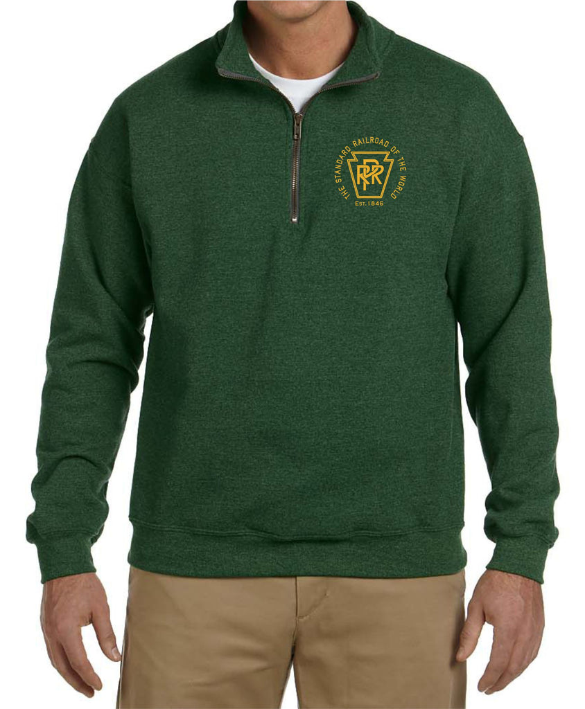 Pennsylvania Railroad  Est. 1846  Embroidered Cadet Collar Sweatshirt
