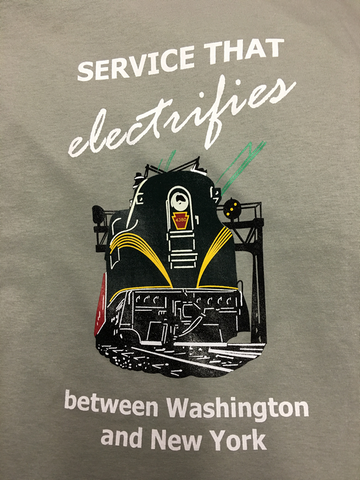 Pennsylvannia Railroad - Service That Electrifies GG1 Shirt