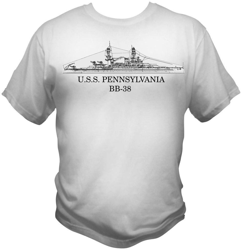 Battleship Pennsylvania BB-38 Shirt
