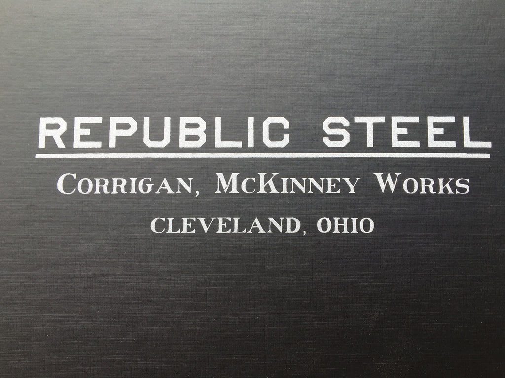 Republic Steel; Corrigan, McKinney Works Book