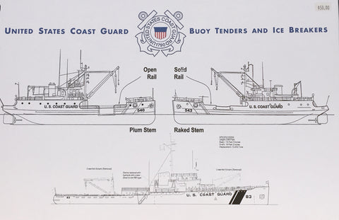 US Coast Guard Buoy Tenders & Ice Breakers Book