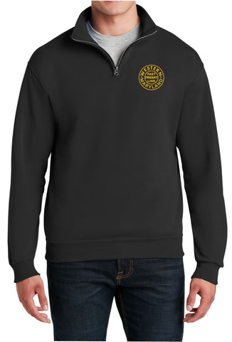 Western Maryland Circle Logo  Embroidered Cadet Collar Sweatshirt
