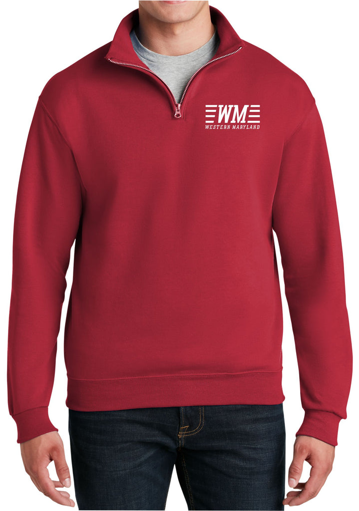Western Maryland Speed Logo  Embroidered Cadet Collar Sweatshirt
