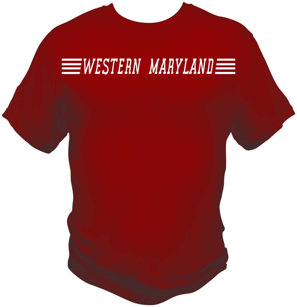 Western Maryland Speed Lettering Shirt