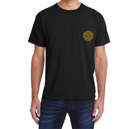 Western Maryland Railway Circle Logo Pocket Tee Faded Glory Shirt