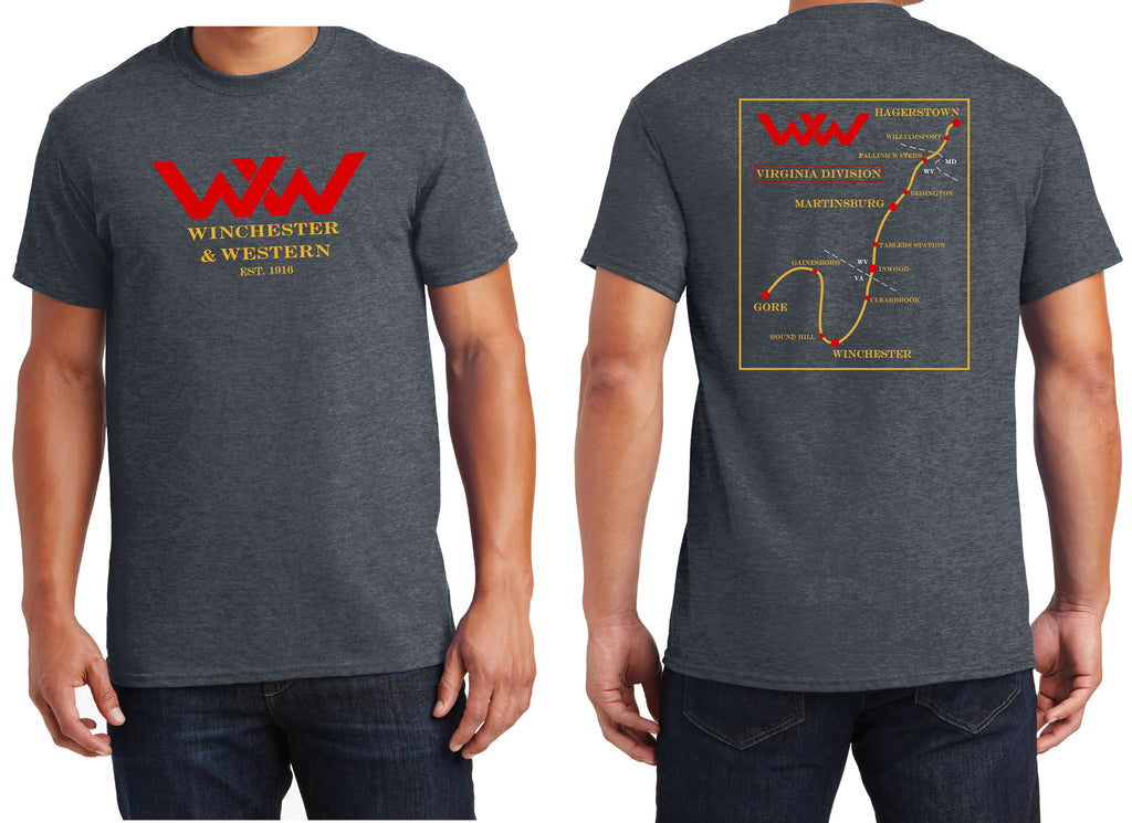 Winchester and Western Railroad Map Shirt