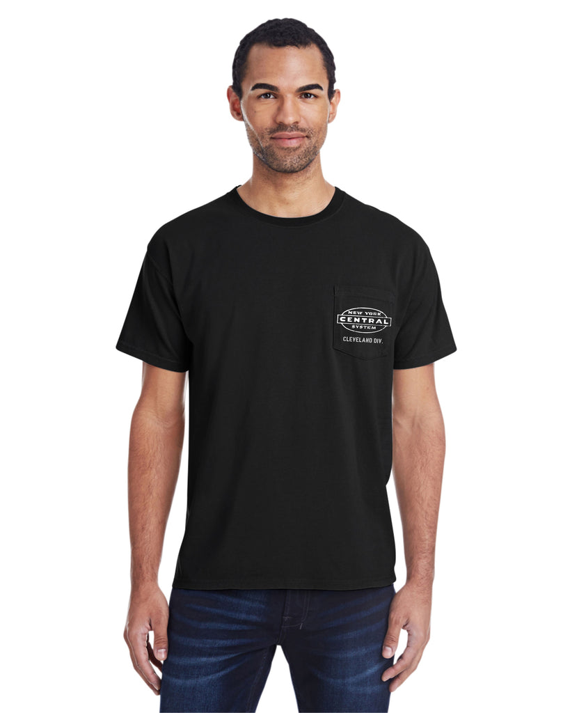 New York Central Railroad Pocket Tee Faded Glory Shirt