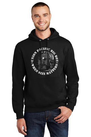 Union Pacific Big Boy 4014 Size Matters Logo Hoodie