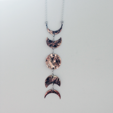Mini Moon Phases Necklace