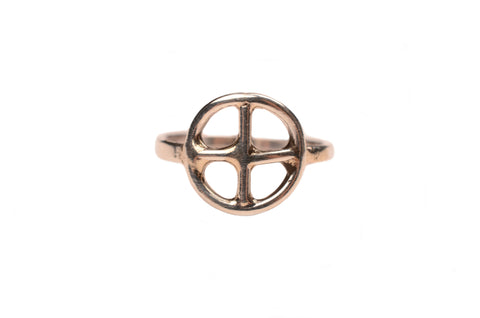 Earth Top Knuckle Ring