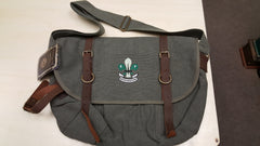 Explorer Shoulder Bag, Vintage Canvas w/ Leather Accents and BPSA Logo