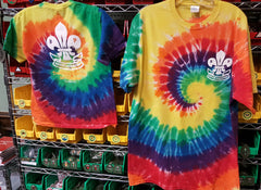 Youth Rainbow Tie-Dye Logo T