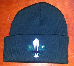 Knit Watch Cap w/ Logo - (dark green)