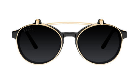 9five lane double flip black and 24k gold sunglasses