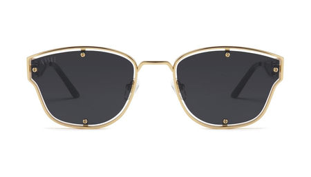 9five orion black and 24k gold sunglasses
