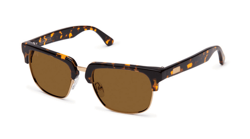 9Five Belmont tortoise and 24k Gold Sunglasses