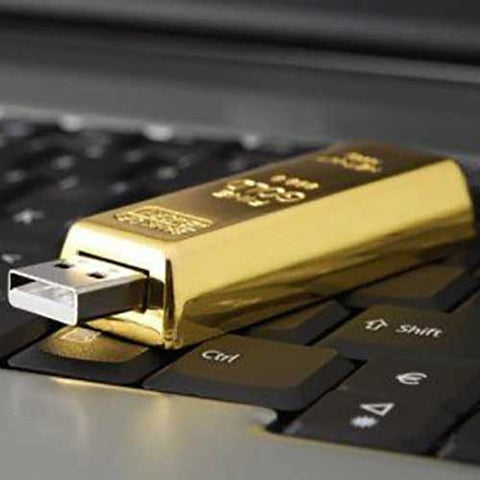 USB Stick Gold Bar - OddGifts.com