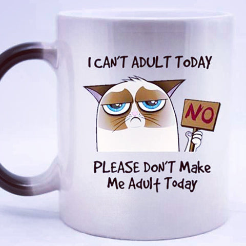 I Can't Adult Today Mug - OddGifts.com