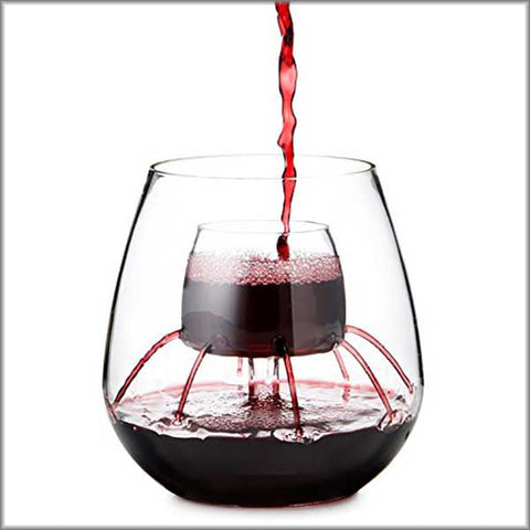 Aerating Wine Glass - OddGifts.com