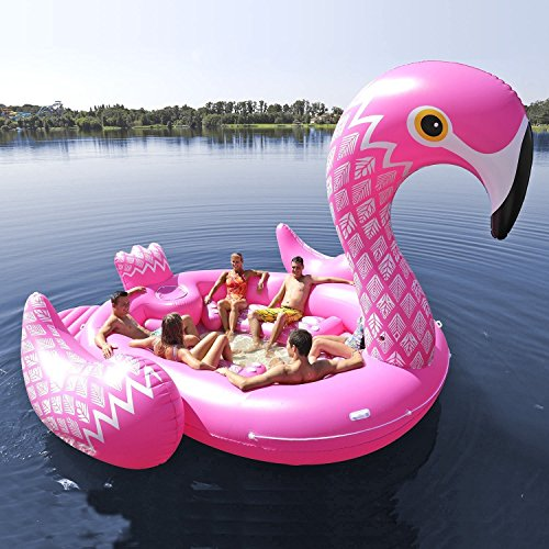 Giant Inflatable Flamingo Island - OddGifts.com