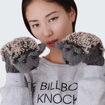 Hedgehog Gloves - OddGifts.com