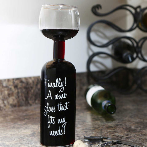 Wine Glass Bottle - OddGifts.com