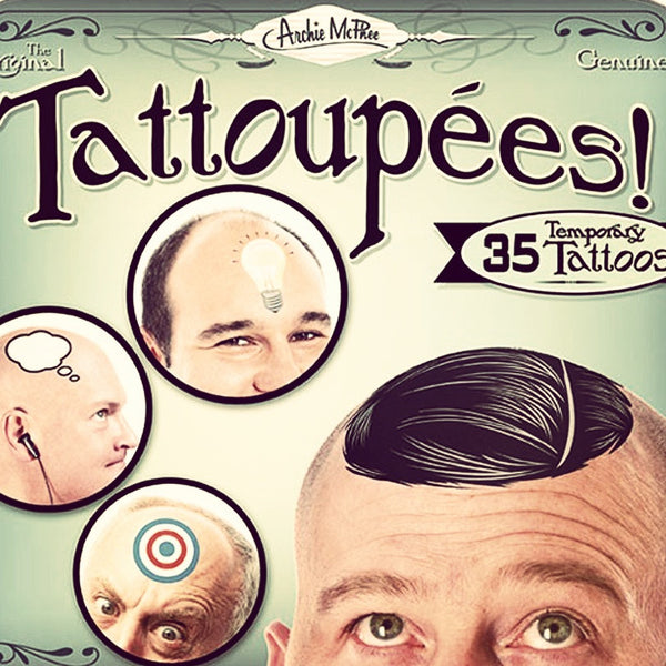 Temporary Toupee Tattoos - OddGifts.com