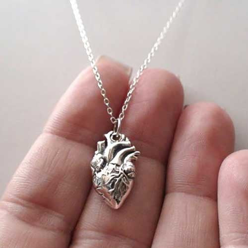 Anatomical Heart Necklace - OddGifts.com