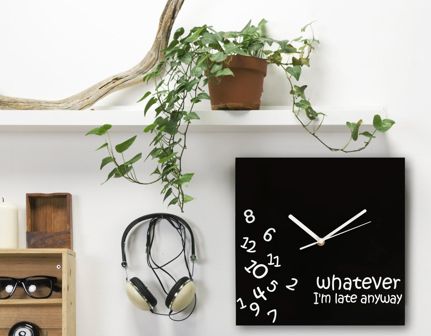 Whatever I'm Late Clock - OddGifts.com
