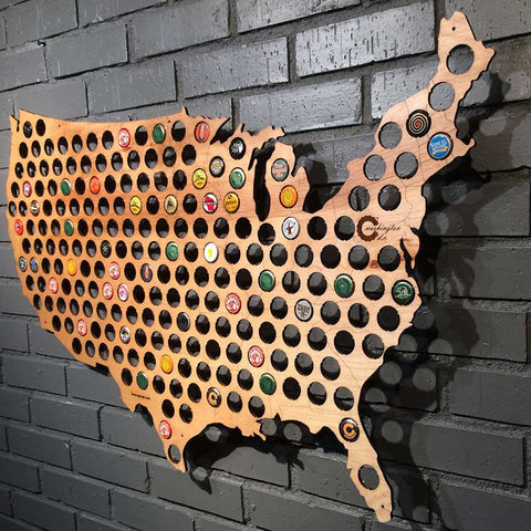 Beer Cap Map - OddGifts.com
