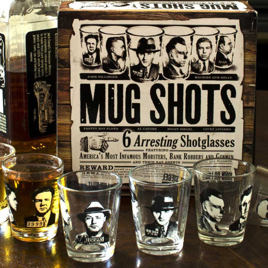 Mug Shot Glass Set - OddGifts.com