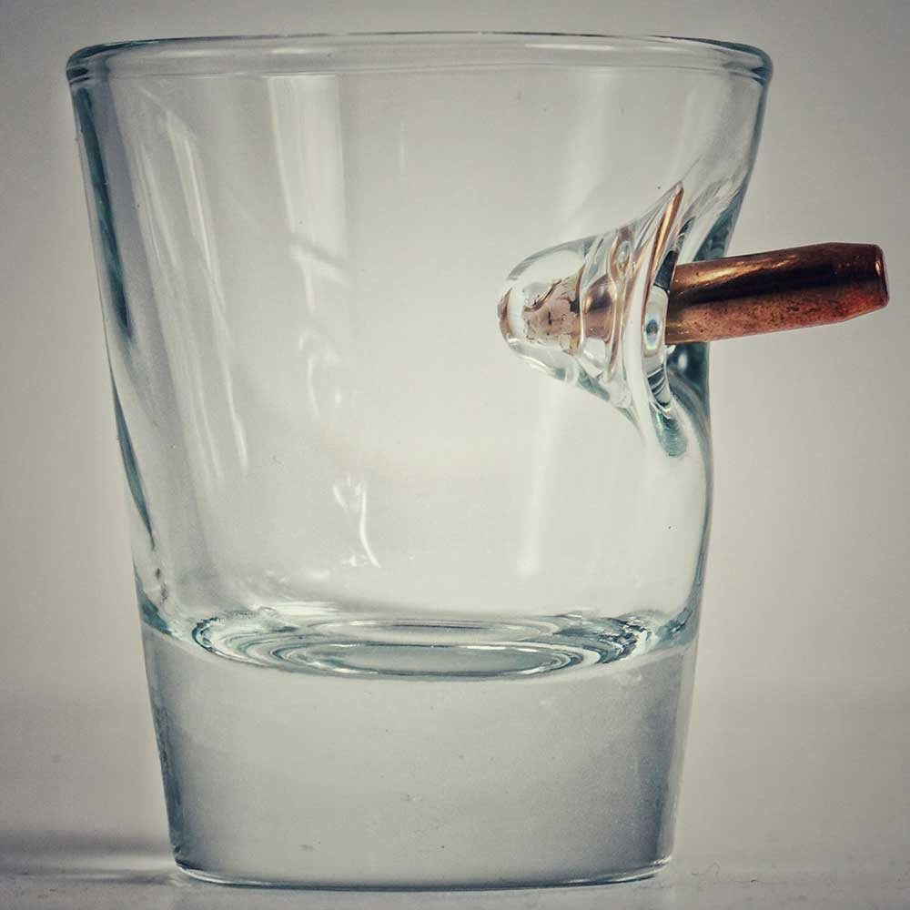 Shot Glass With Real Bullet - OddGifts.com