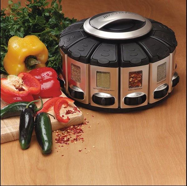 Spice Rack Carousel with Auto-Measure