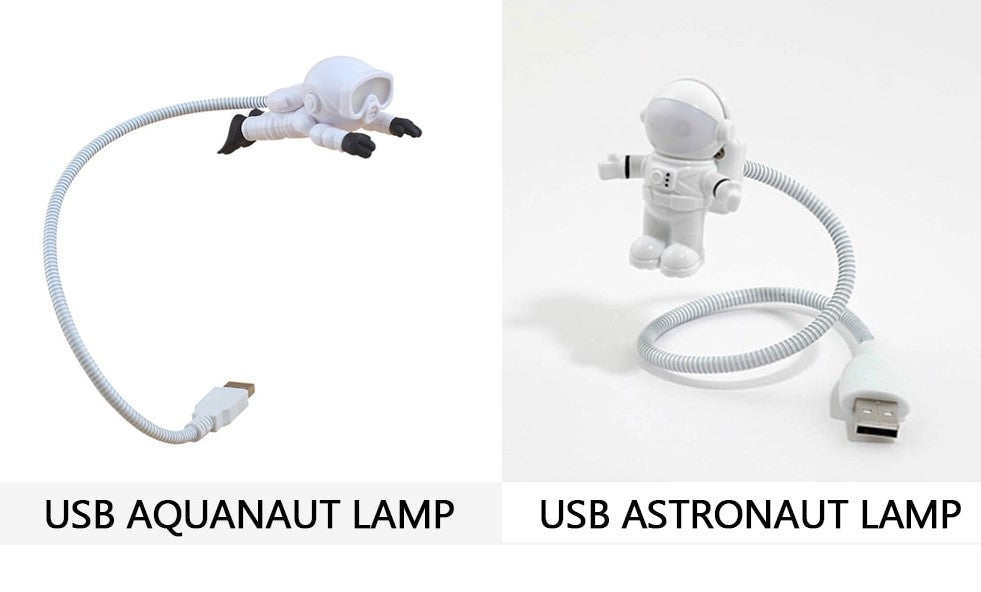 Astronaut and New Arrival Aquanaut USB LED Night Light