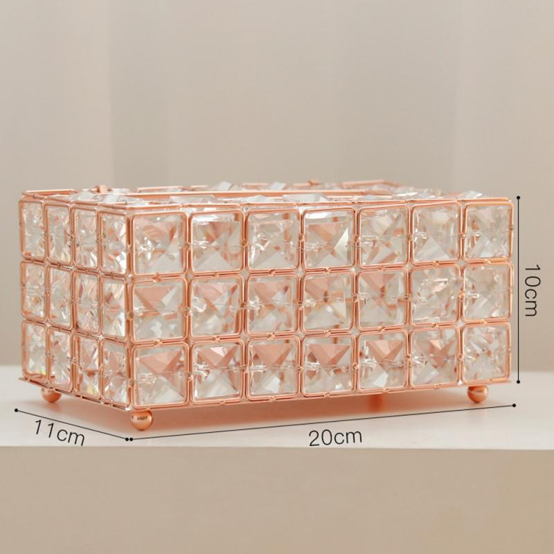 Bedazzled Rhinestone Crystal Tissue Box Cover Holder