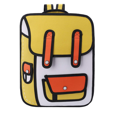 Backpack that looks like a cartoon - oddgifts.com
