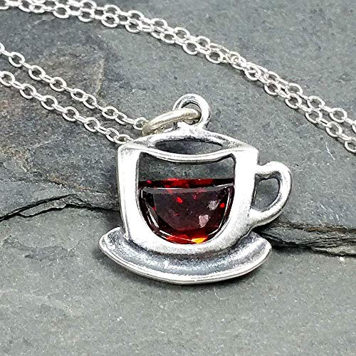 Coffee Cup Sterling Silver Necklace - oddgifts.com