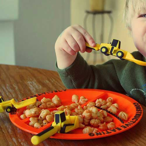 Kids Construction Plate and Utensils