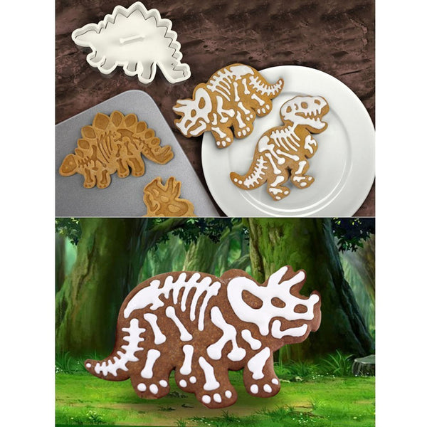 Dinosaur Fossil Cookie Molds