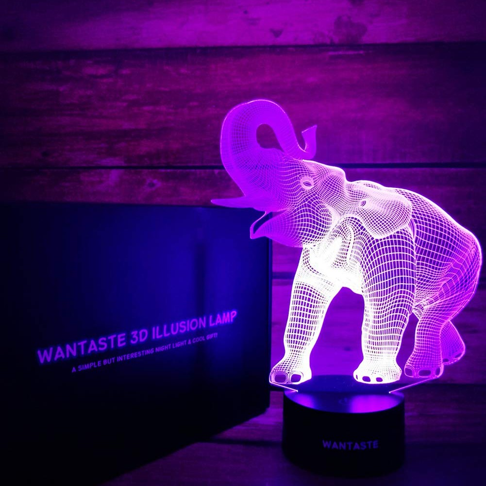 Elephant 3D Night Light - oddgifts.com