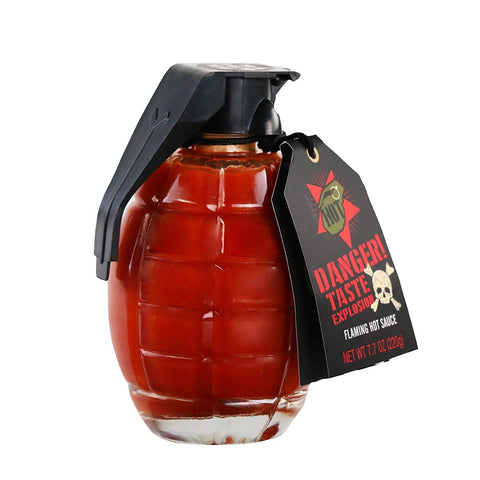 Flaming Grenade Hot Sauce - oddgifts.com
