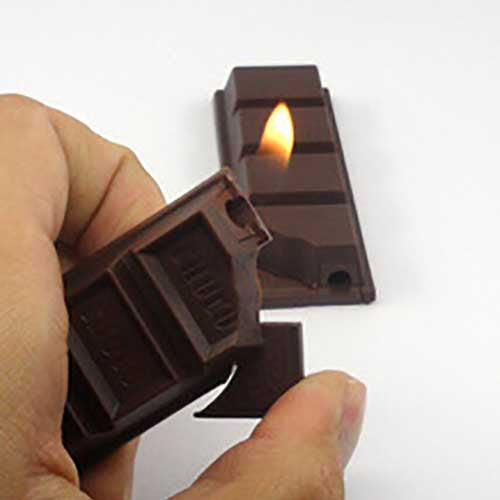 Chocolate Bar Cigarette Lighter - OddGifts.com