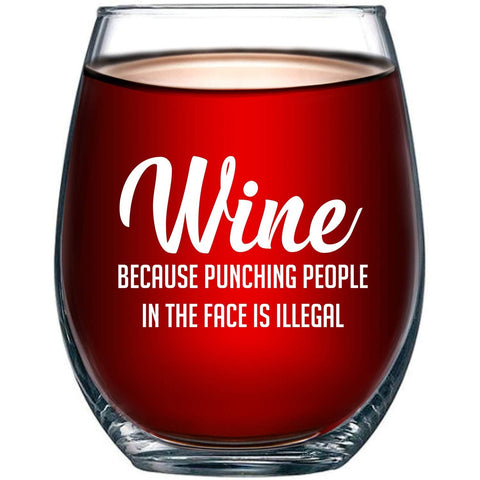Funny Wine Glass - oddgifts.com