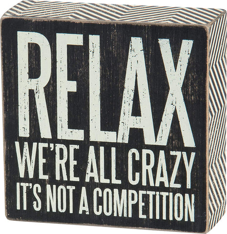 Funny Wooden Box Sign - oddgifts.com