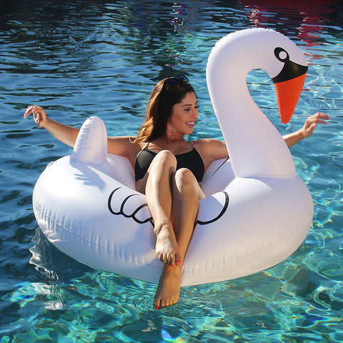 Giant Swan Pool Float - OddGifts.com