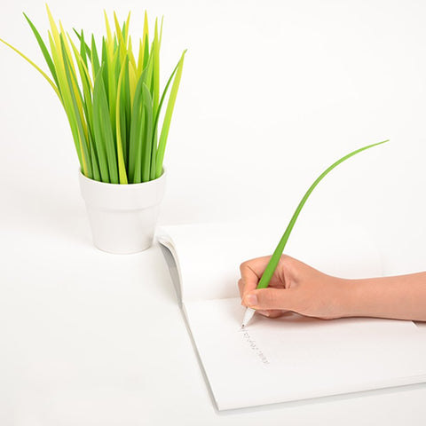 Grass Blades Black Gel Pens - oddgifts.com