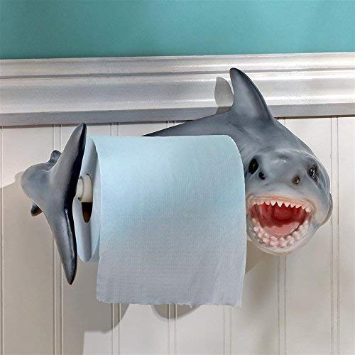 Great White Shark Toilet Roll Holder - oddgifts.com