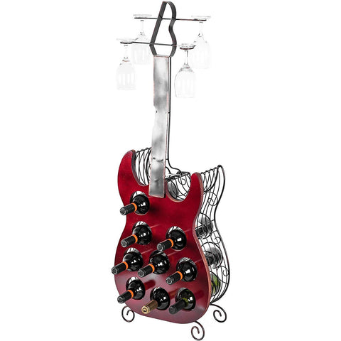 Wine and Glass Guitar Holder - oddgifts.com