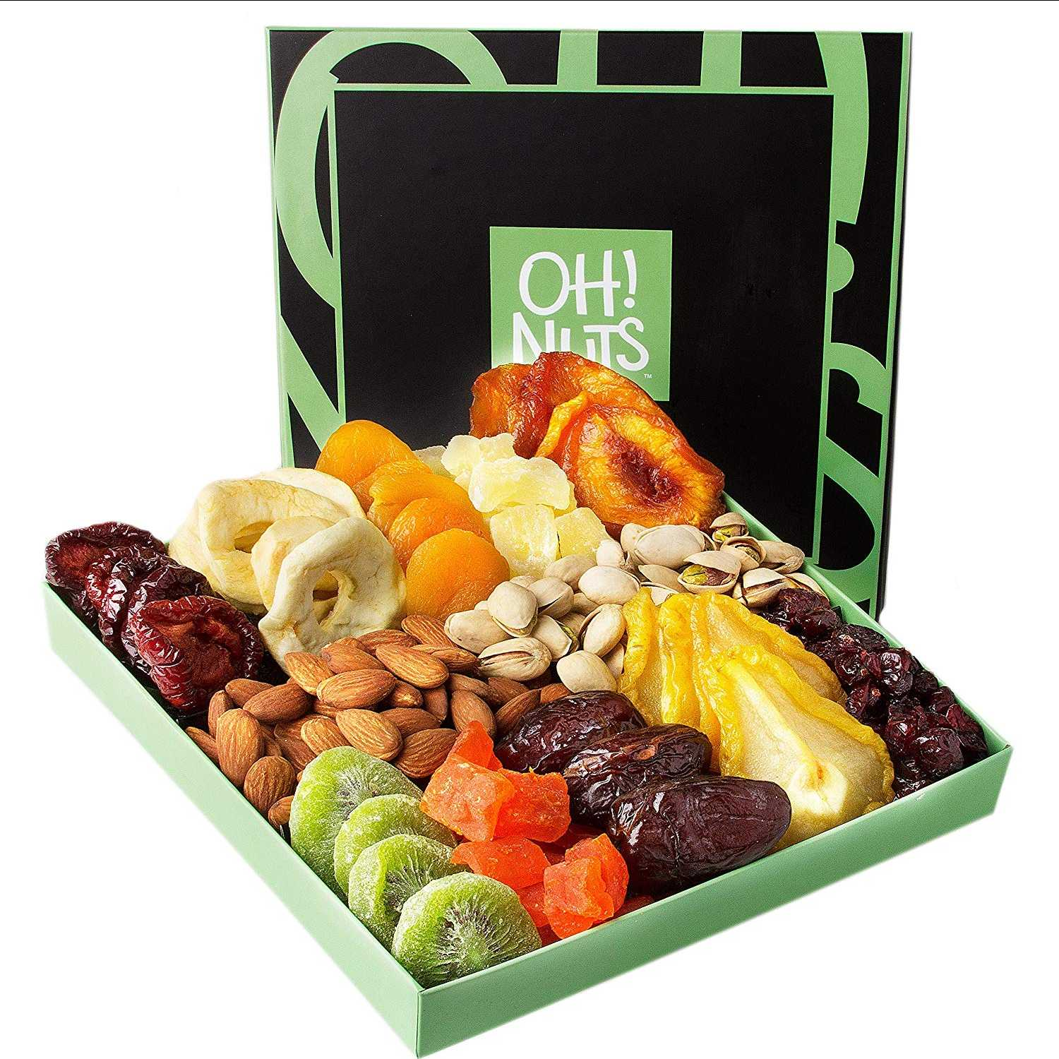Holiday Nut And Dried Fruit Gift Basket - oddgifts.com